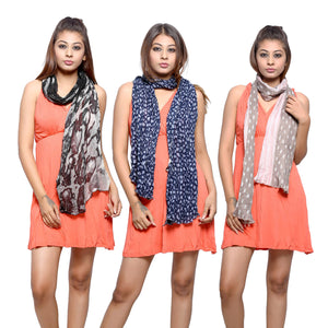 Multi Color Scarf Combo Of 2