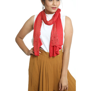 Red Nylon Stole