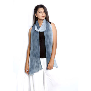 Grey Checkered Scarfs