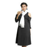 White Georgette Women's Stole
