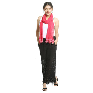 Pink Georgette Stole