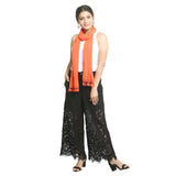 Orange Georgette Women's Stole
