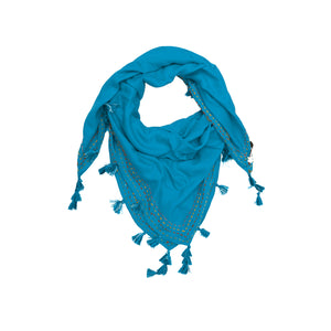Miraan Light Blue Rayon Scarf