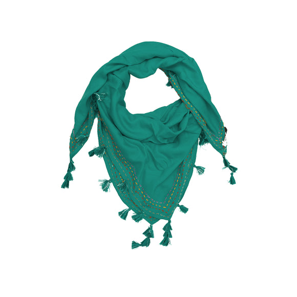 Miraan Light Green Rayon Scarf
