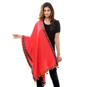 Nazakat Red Georgette Stole