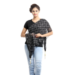 Nirvana Black Georgette Scarf