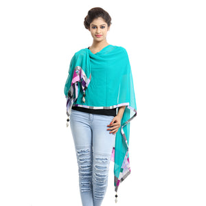Vectors Green Georgette Stole