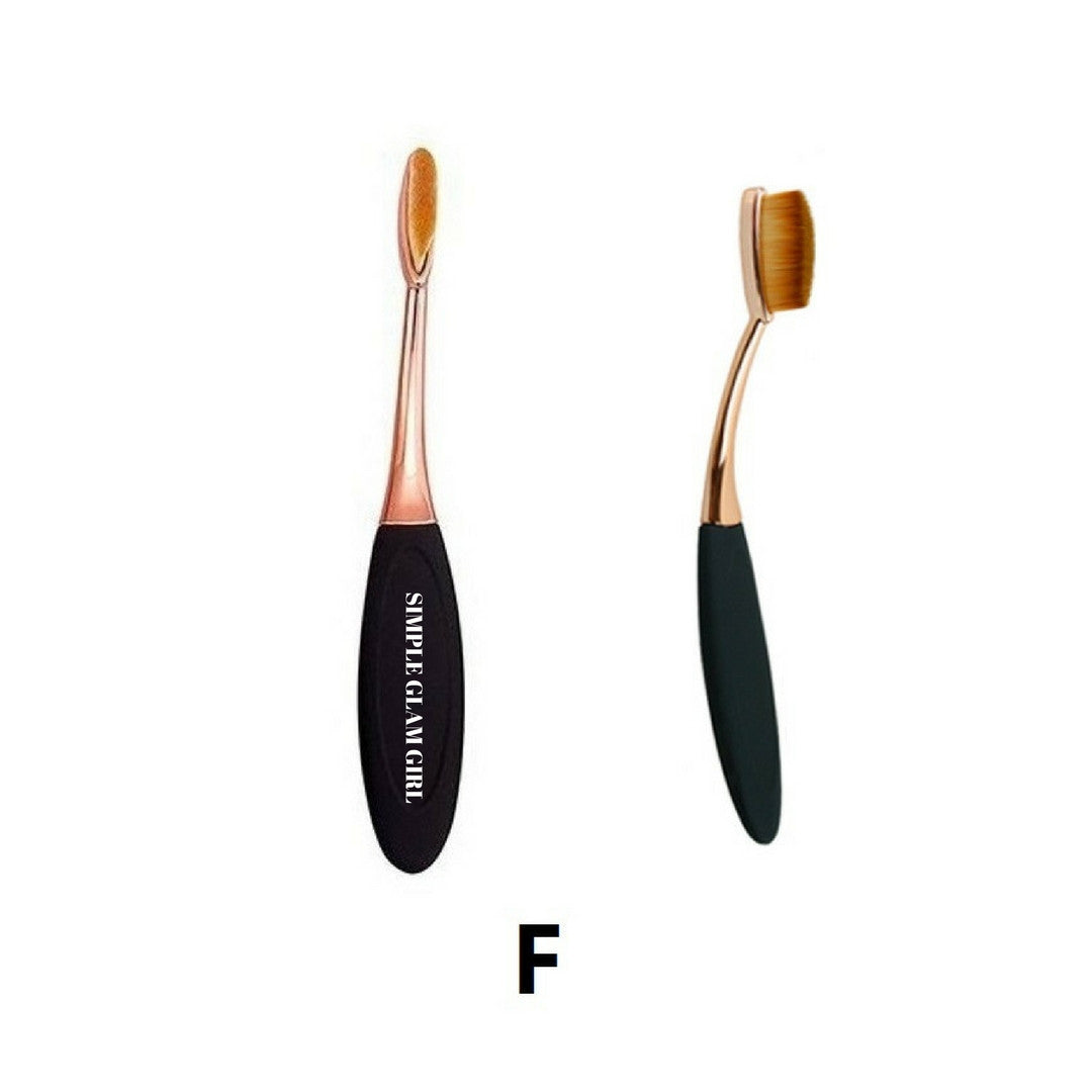 flat oval makeup brush. size f - lush rose gold oval makeup brush (flat brush) flat