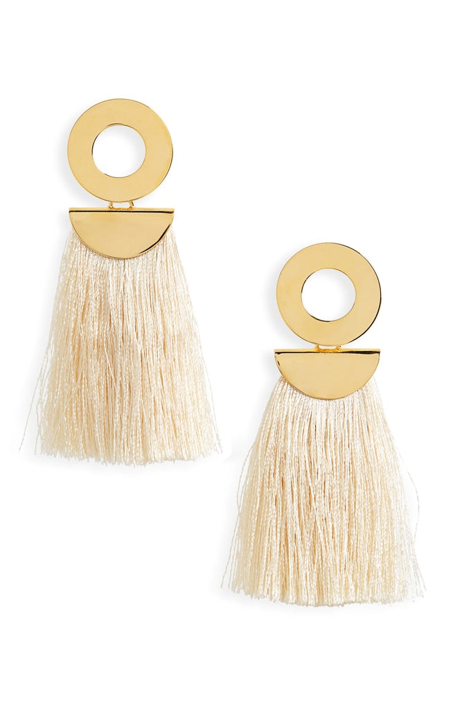 Lizzie Fortunato Go-Go Crater Earrings Champagne