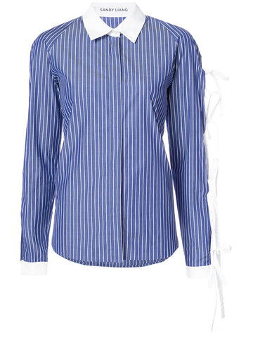 Sandy Liang tie up sleeve shirt