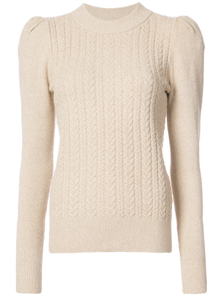 Co Cable knit metallic sweater
