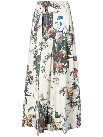 ADAM LIPPES belted flared floral trousers