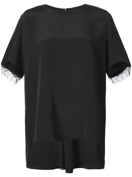 ADAM LIPPES lace trim boxy blouse