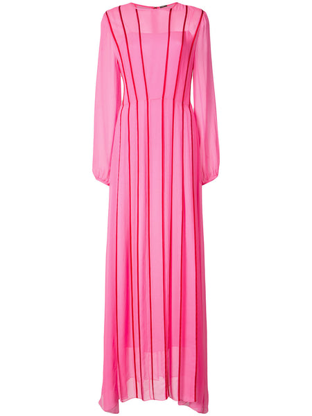 ADAM LIPPES stripe front gown