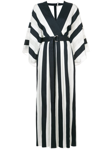 ADAM LIPPES plunge stripe dress