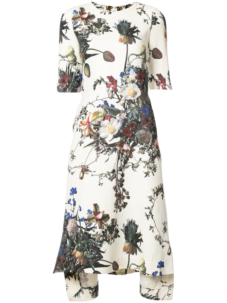 ADAM LIPPES floral print dress
