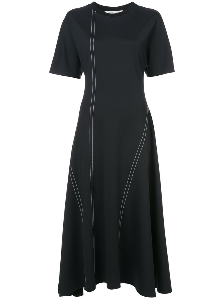 DVF DIANE VON FURSTENBERG Asymmetric seam dress
