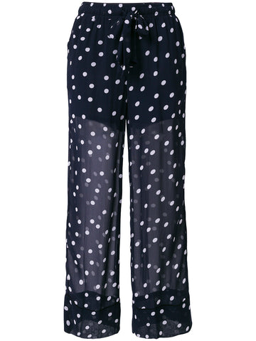 GANNI polka dot sheer trousers