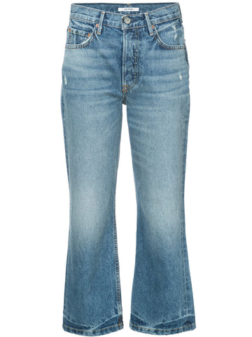 GRLFRND Linda Pop cropped straight leg jeans