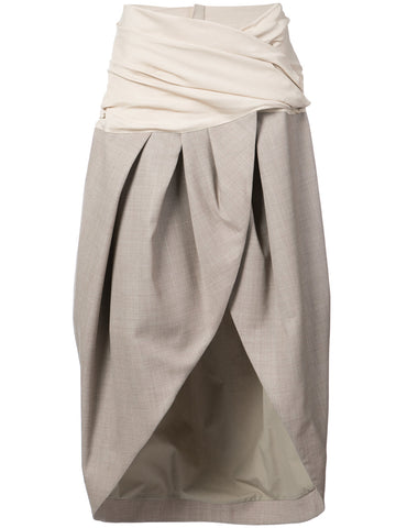 JACQUEMUS  asymmetric wrap skirt