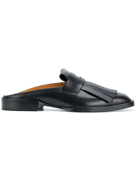 CLERGERIE Yumi Flat Open Back Loafer - Black