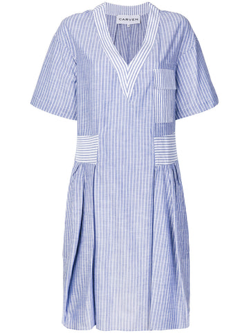 CARVEN striped flared dress