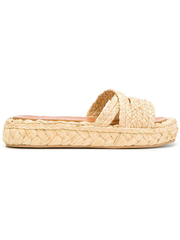 ROBERT CLERGERIE Idalie Raffia Slide - Natural