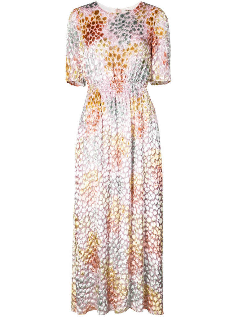 Adam Lippes Painted Jacquard SS Long Dress