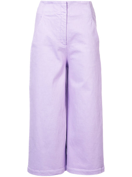 TIBI Demi wide leg cropped jeans