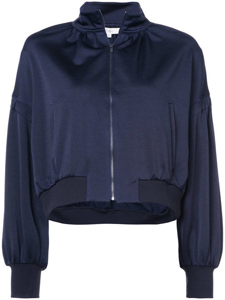 TIBI Sculpt cropped track jacket