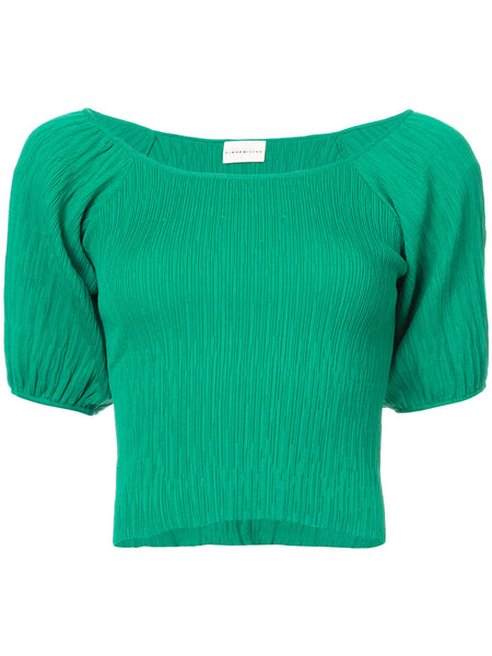 SIMON MILLER Gwinn ribbed crop top