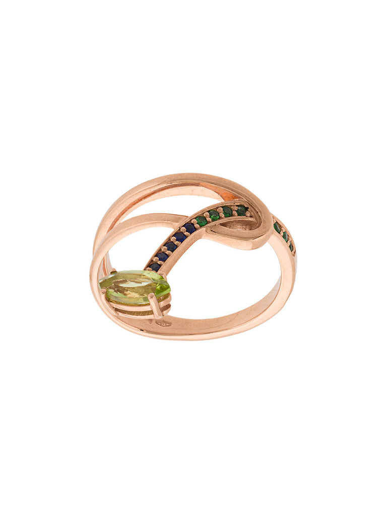 BEA BONGIASCA Gloriosa Lily hoop stacking ring