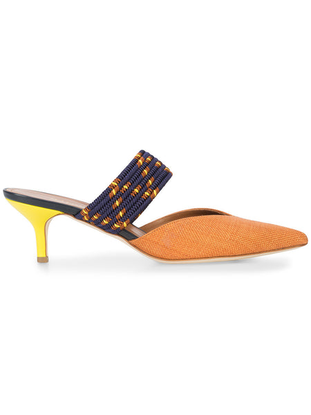 MALONE SOULIERS Maisie contrast woven strap mules