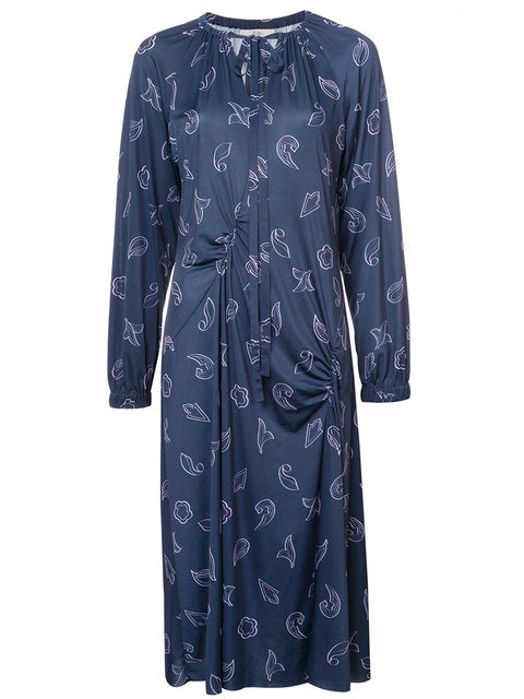 Tibi Remi Print on Jersey Long Dress