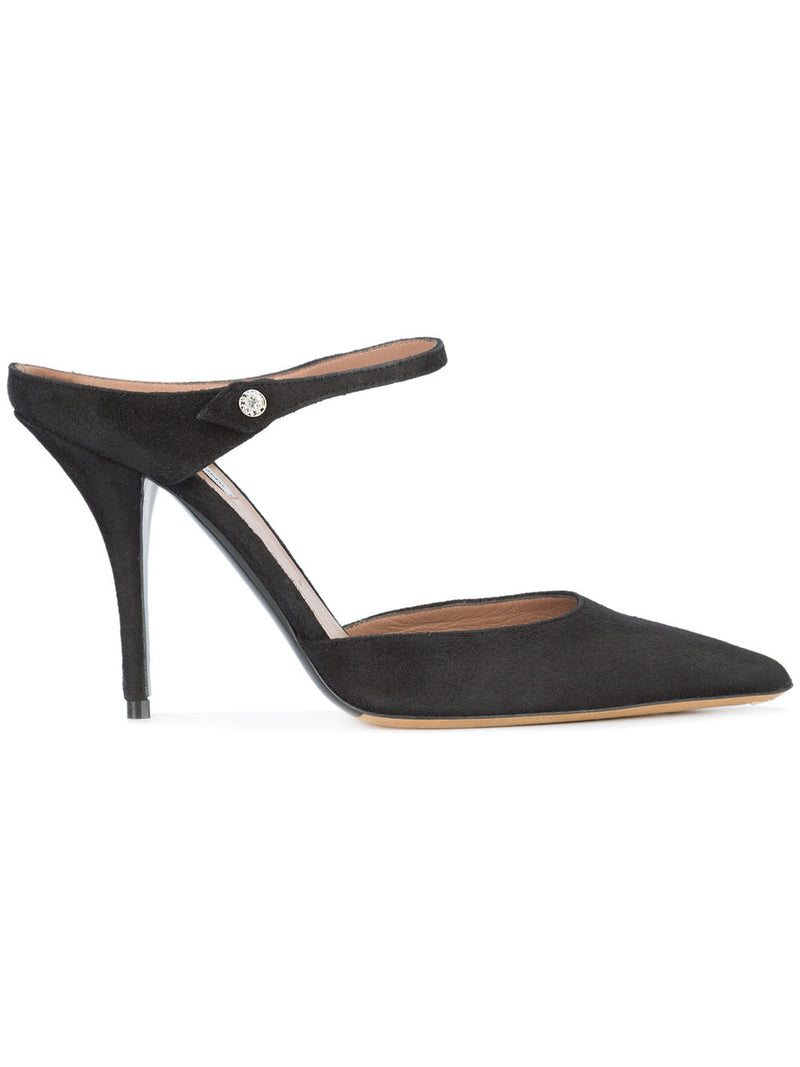 Tabitha Simmons Allie Black Suede Mule