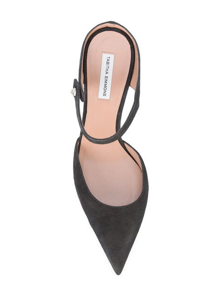 3aa465ff74ce Tabitha Simmons Allie Black Suede Mule – McMullen