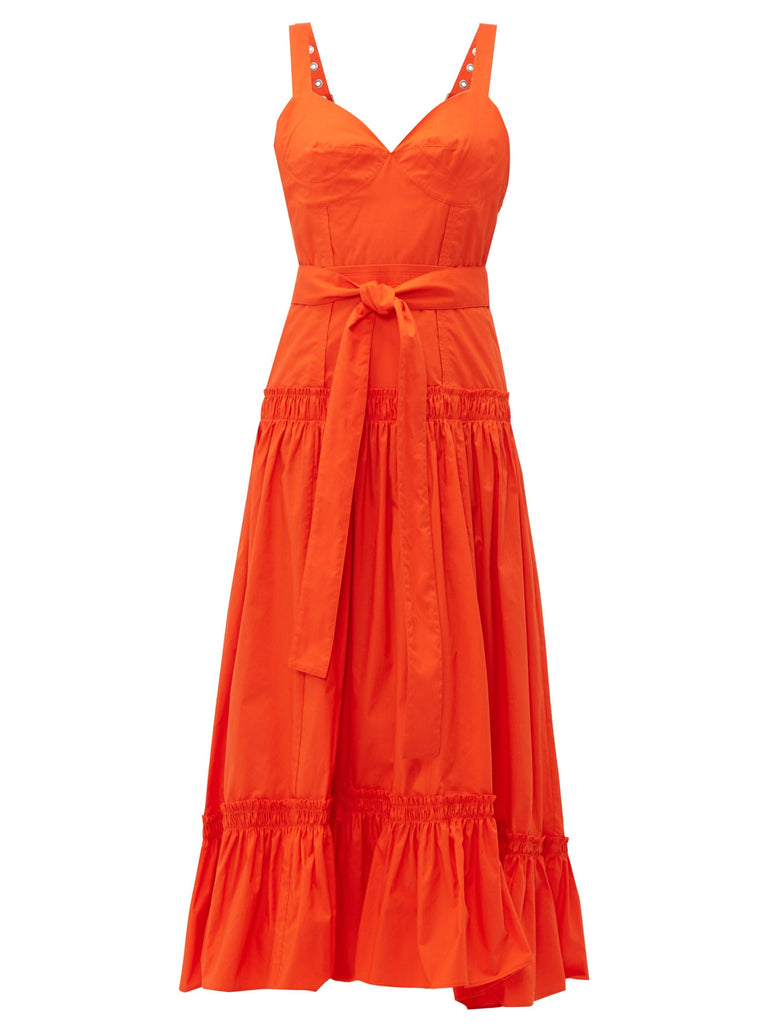 PROENZA SCHOULER S/L Dress-Cotton Poplin - Orange