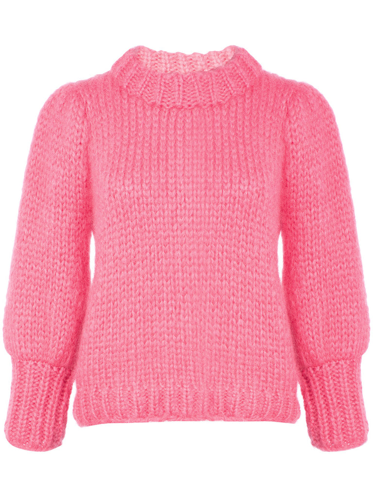 GANNI Julliard Mohair Sweater Pink