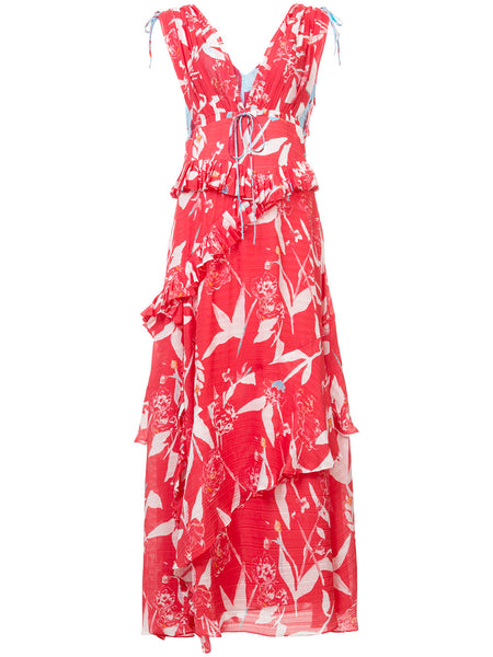 Tanya Taylor Parrot Tulip Angie Dress