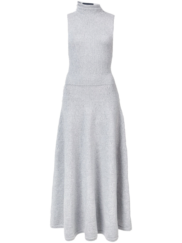 Brandon Maxwell TURTLENECK KNIT CIRCLE DRESS