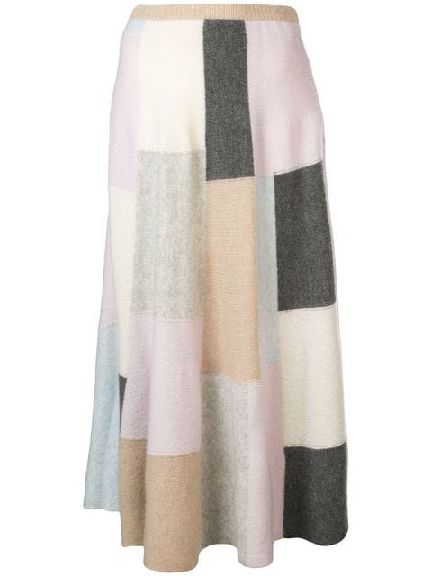 Adam Lippes BRUSHED CASHMERE KNIT CIRCLE SKIRT