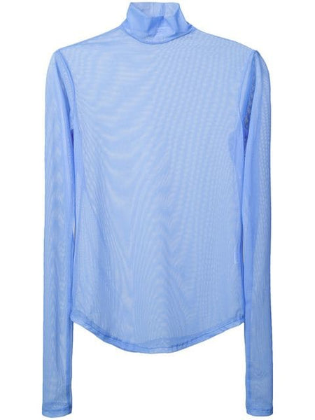 NOMIA LONG SLEEVE MOCK NECK PERIWINKLE