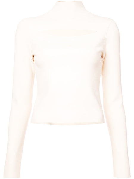Proenza Schouler L/S Turtlenk W Cut Out Matte Viscose
