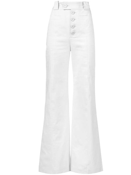 PROENZA SCHOULER Hi-Waisted Pants-Cotton Twill