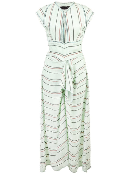 PROENZA SCHOULER Cap Sleeve Float Stripe Crepe Dress