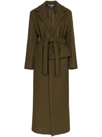 Jacquemus Le Manteau Aissa Long Wrap Coat