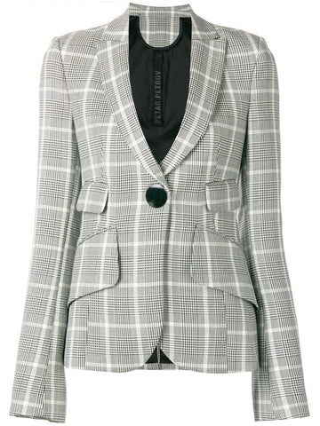 Petar Petrov FOUR POCKET TAILORED CROPPED HEAVY WOOL JACKET