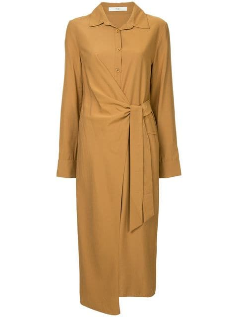 TIBI VISCOSE TWILL SHIRT DRESS