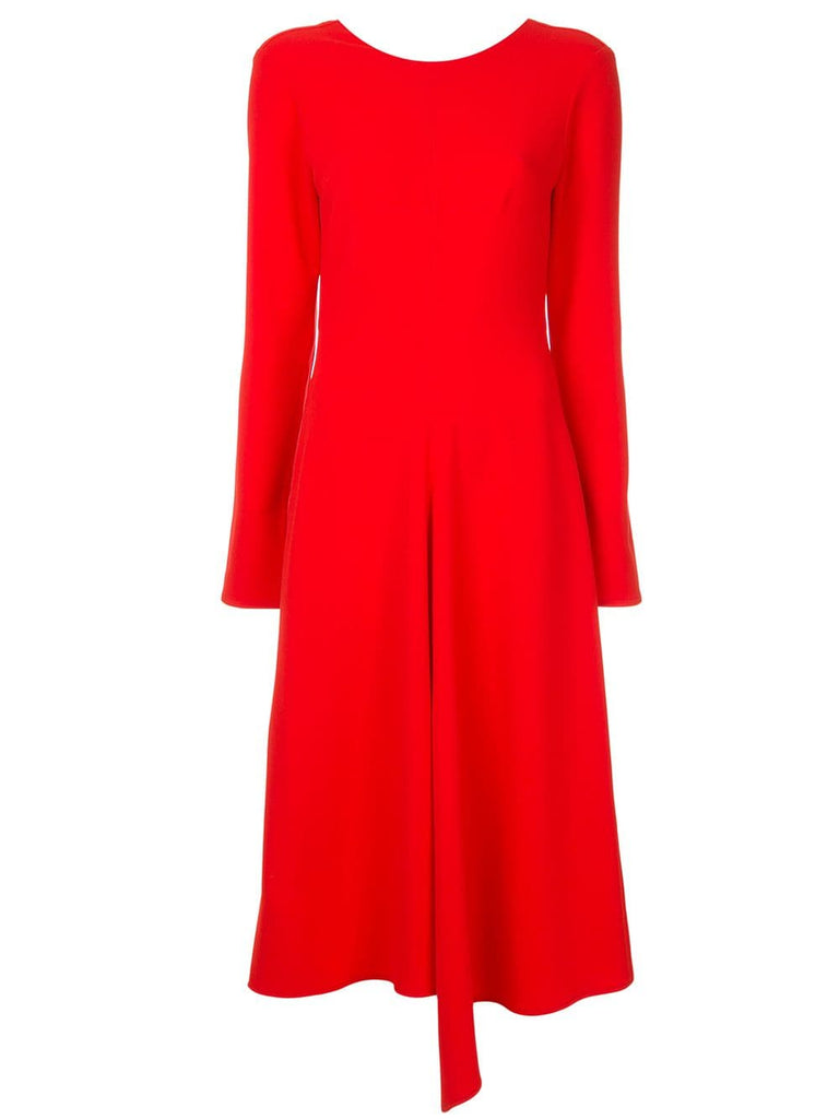 Tibi TRIACETATE DRESS W/ V BACK