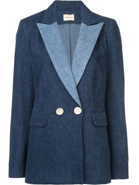 Simon Miller Blue Denim Blazer